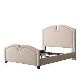CorLiving Fairfield Fabric Curved Top Queen Bed