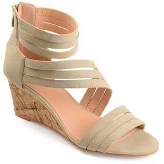 Journee Collection Women's 'Loki' Strappy Faux Cork Wedges