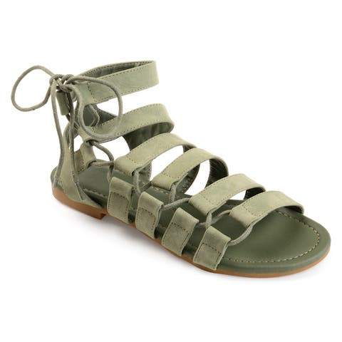 245b785e080c Journee Collection Women s  Cleo  Strappy Caged Gladiator Sandals