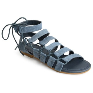 Journee Collection Women's 'Cleo' Strappy Caged Gladiator Sandals