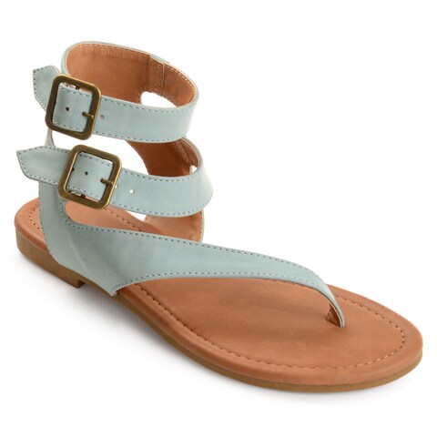 Journee Collection Women's 'Kyle' Double Wrap Buckle Thong Sandals