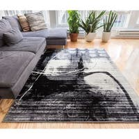 """Well Woven Gramercy Grey Modern Abstract Area Rug - 7'10"""" x 9'10"""""""