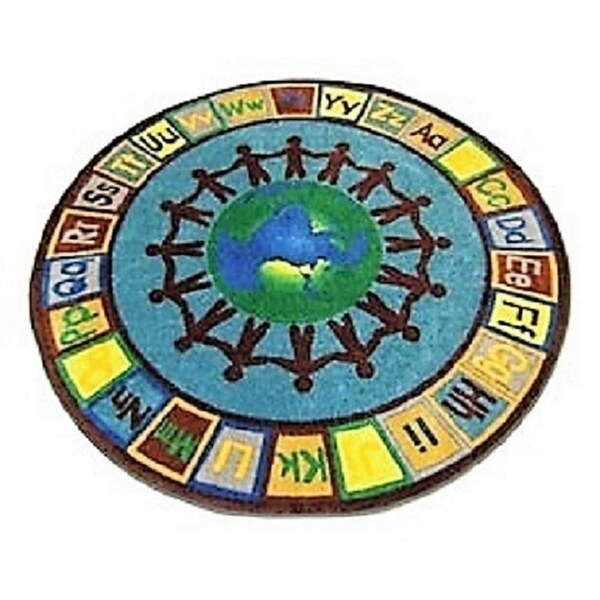 Earth Tones Alpha World Nylon Educational Area Rug 6 X27