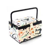 St Jane Sewing Basket Med Rectangle Notions
