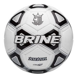 Brine SBATK94 Attack Black and White Synthetic Leather Soccer Ball, size 3|https://ak1.ostkcdn.com/images/products/18515421/P24625659.jpg?impolicy=medium