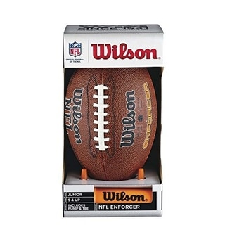 Wilson NFL Enforcer Football with Pump and Tee