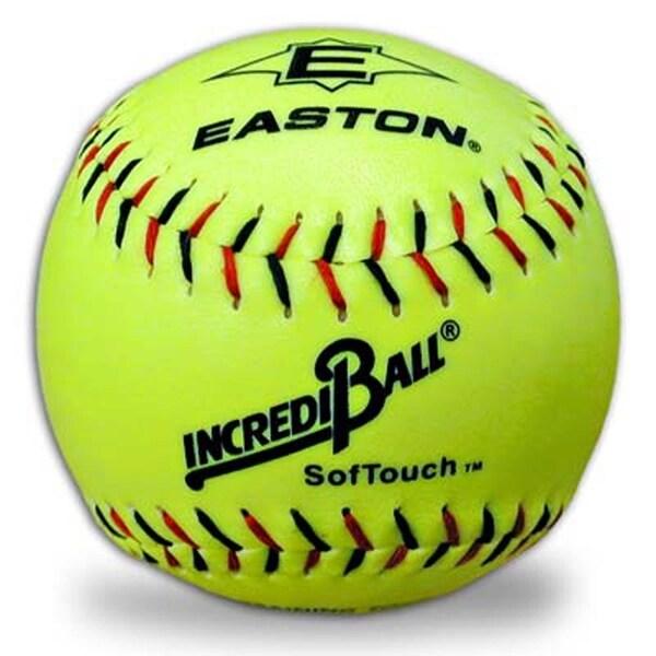 Easton Softouch Incrediball 12-inch Neon Yellow Softballs