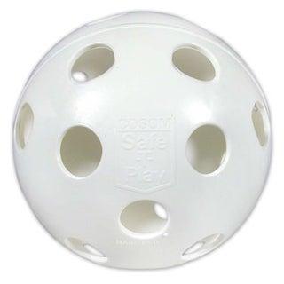 White 12-inch Perforated Softball Funball