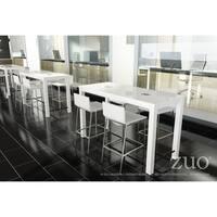 Odin White Wood Bar Table