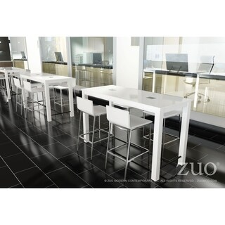 Odin White Wood Bar Table