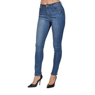 C'est Toi Denim Skinny Acid Front Washed Jeans
