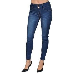 C'est Toi Supper Skinny 3 Button Blue Denim Jeans