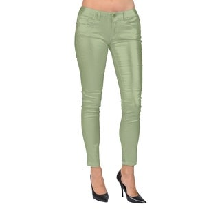 Women's Solid Coated Copper Skinny Jeans (More options available)