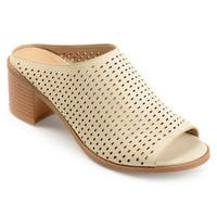 Journee Collection Women's 'Ziff' Perforated Open-toe Mules