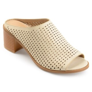 Journee Collection Women's 'Ziff' Perforated Open-toe Mules (More options available)