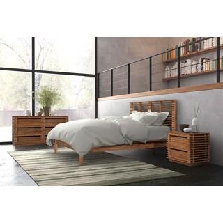 Linea Brown Wood Queen Bed
