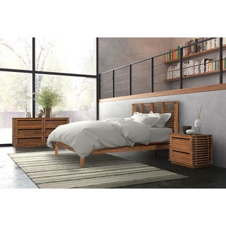 Linea Brown Wood King Bed