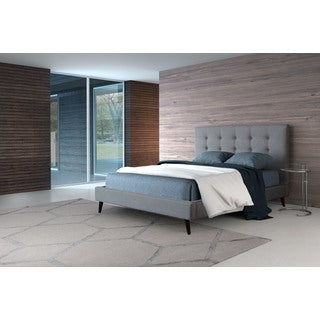 Modernity Grey Poly-linen/Wood Queen Bed