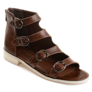 Journee Collection Women's 'Oakly' Distressed Side Buckle High-top Sandals