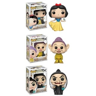 Funko POP! Disney Snow White Collectors Set; Snow White, Dopey, Witch