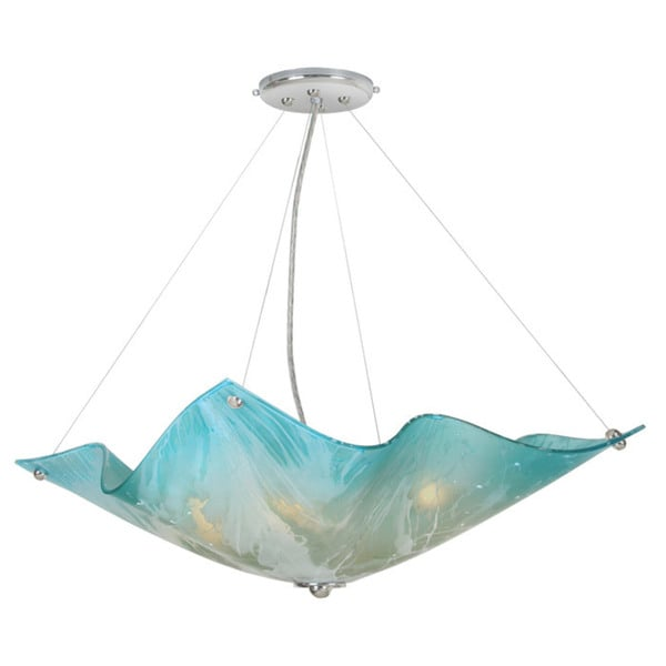 Van Teal Affair Blended Blue Metal and Acrylic Inverted Chandelier