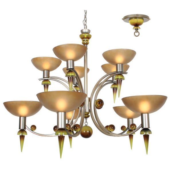 Van Teal Melissa Silver Multi-tier 10-light Chandelier
