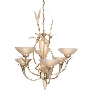 Van Teal Expectation Silvertone Metal/Acrylic Multi-tier 6-light Bowl Chandelier - Silver