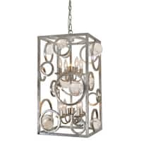 Cage-style Pendant Light With Clear Polished Acrylic Globes