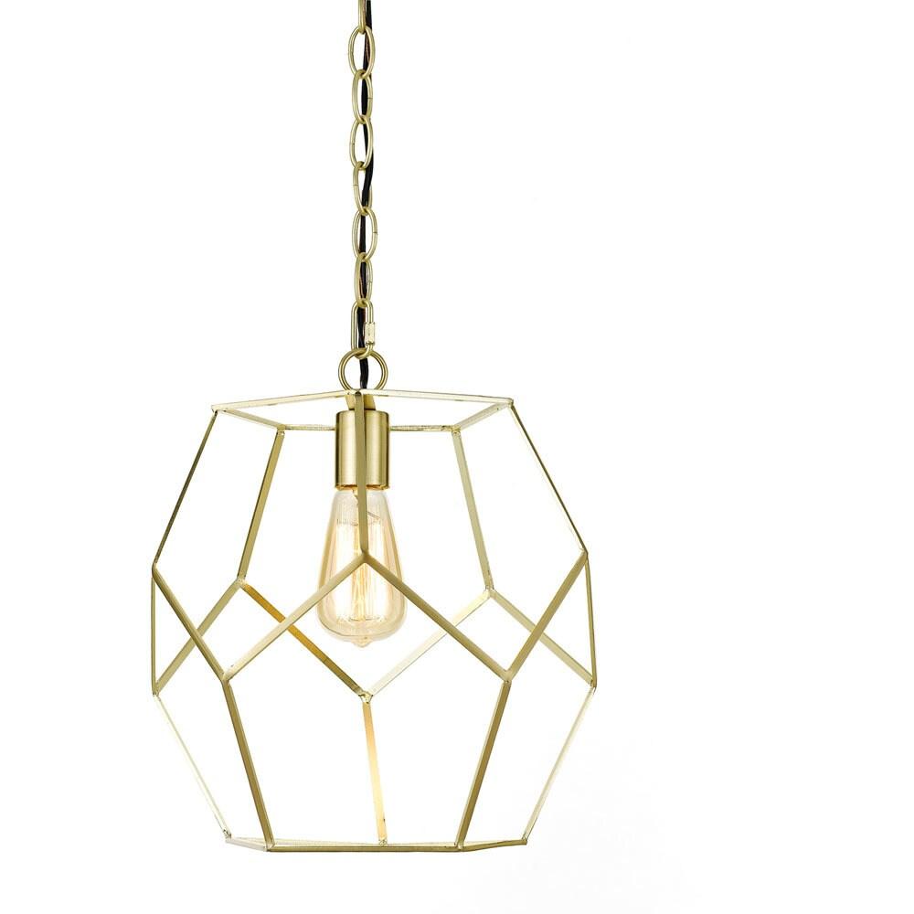 AF Lighting  One Light Pendant in Brushed Gold (Brushed Gold)