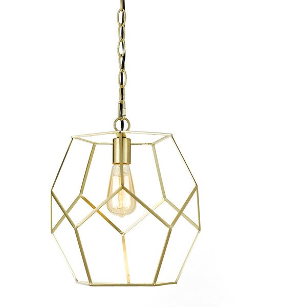 AF Lighting One Light Pendant in Brushed Gold