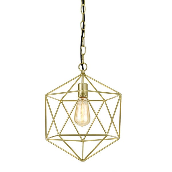 AF Lighting One-Light Chandelier in Brushed Gold