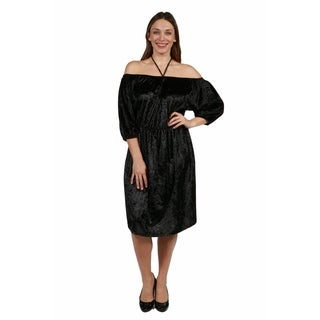 24/7 Comfort Apparel Halter Strap Via Veneto Plus Size Dress (3 options available)