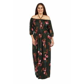 24/7 Comfort Apparel Jungle Hibiscus Plus Size Maxi Dress|https://ak1.ostkcdn.com/images/products/18516404/P24626431.jpg?_ostk_perf_=percv&impolicy=medium