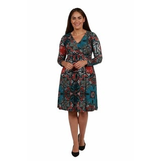 24/7 Comfort Apparel Brentwood Plus Size Dress