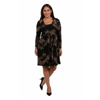 24/7 Comfort Apparel Rebecca Plus Size Dress|https://ak1.ostkcdn.com/images/products/18516416/P24626440.jpg?impolicy=medium