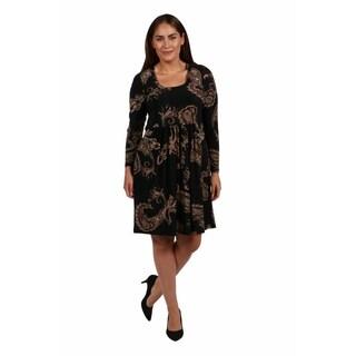 24/7 Comfort Apparel Rebecca Plus Size Dress (Option: 5x)