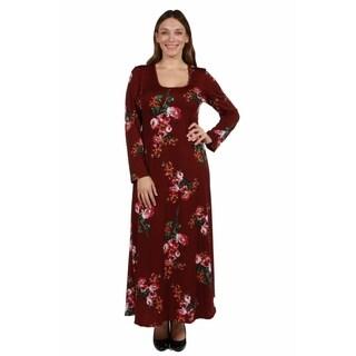 24/7 Comfort Apparel Bayou Rose Plus Size Dress
