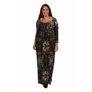 24/7 Comfort Apparel Twilight Terrazzo Plus Size Maxi Dress