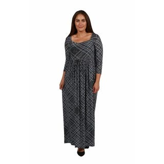 24/7 Comfort Apparel Cocktails in Tahoe Plus Size Maxi Dress|https://ak1.ostkcdn.com/images/products/18516428/P24626459.jpg?impolicy=medium