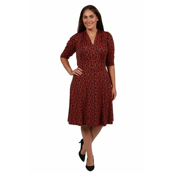 247 Comfort Apparel Wall Street Plus Size Dress Free Shipping On