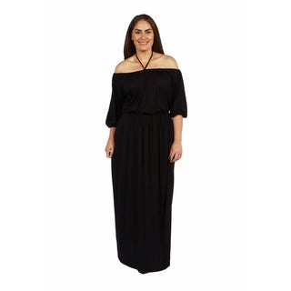 24/7 Comfort Apparel Monaco Plus Size Maxi Dress