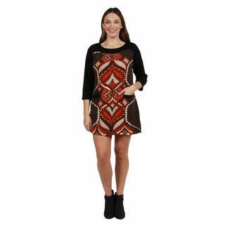 24/7 Comfort Apparel Jordana Sweater Knit Plus Size Dress