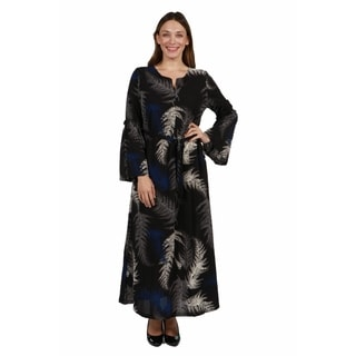 24/7 Comfort Apparel Lisette Plus Size Maxi Dress