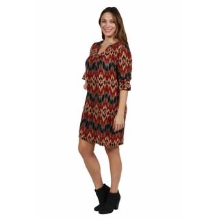 24/7 Comfort Apparel Daniela Plus Size Luxury Sweater Knit Dress