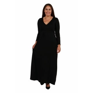 24/7 Comfort Apparel Long Cool Woman Plus Size Maxi Dress (More options available)