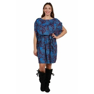 24/7 Comfort Apparel Amalia Plus Size Butterfly Dress