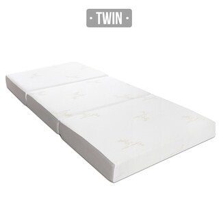 Milliard 6-inch Memory Foam Tri-fold Twin-size Mattress with Removable Cover and Non-Slip Bottom