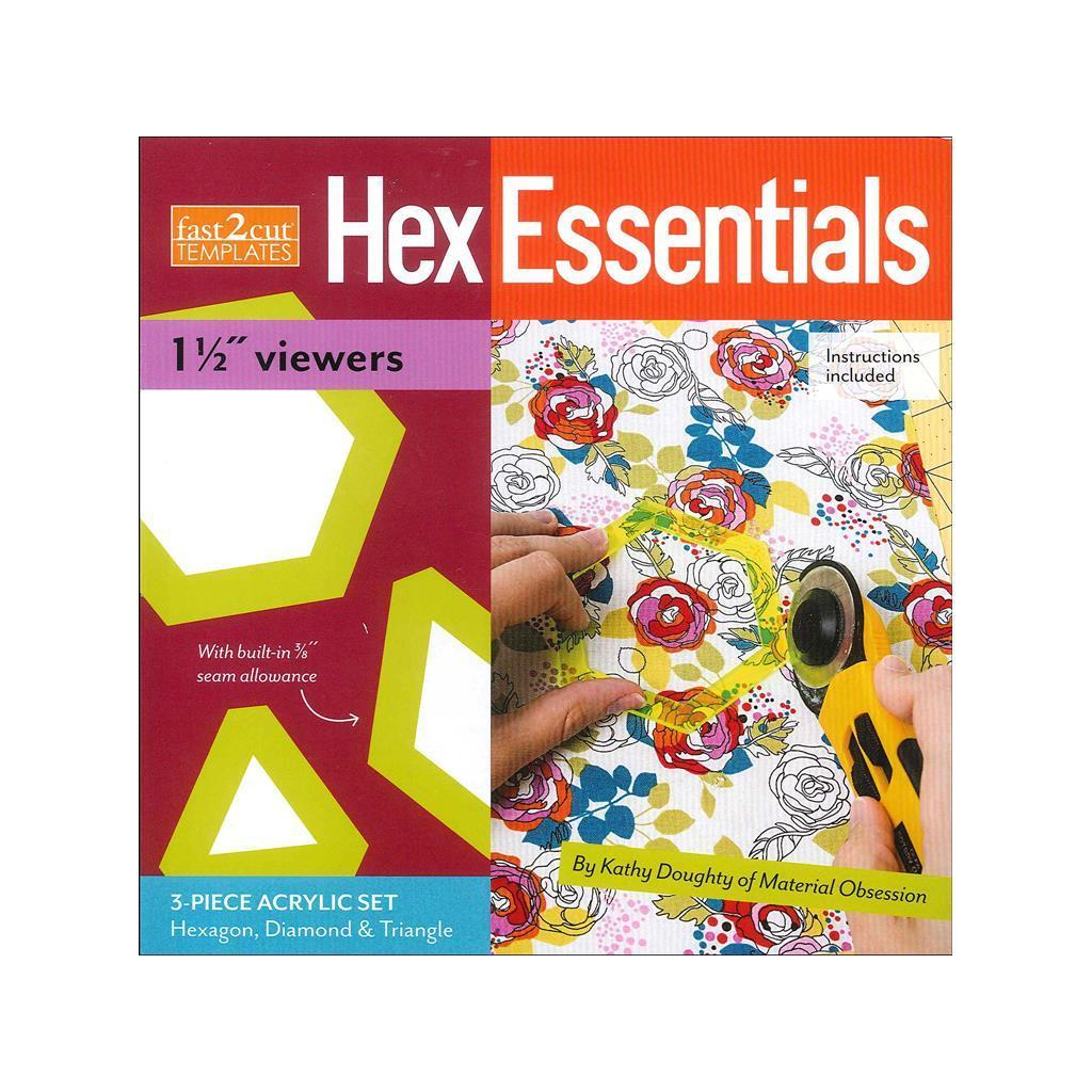"""C & T PUBLISHING Stash By C&T Fast2Cut Template Hex 1.5"""" ..."""