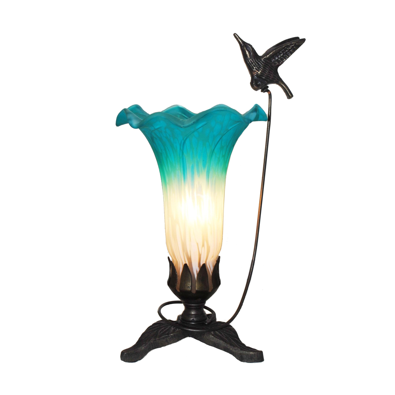 Laurel Creek Allen Hand-painted Hummingbird Lily Lamp
