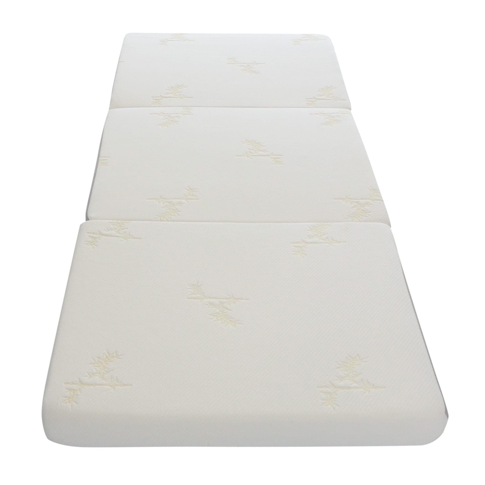 Milliard 4-inch Tri Folding Mattress with Ultra Soft Remo...